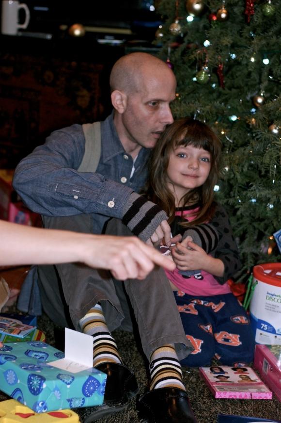 Dan holding Jules